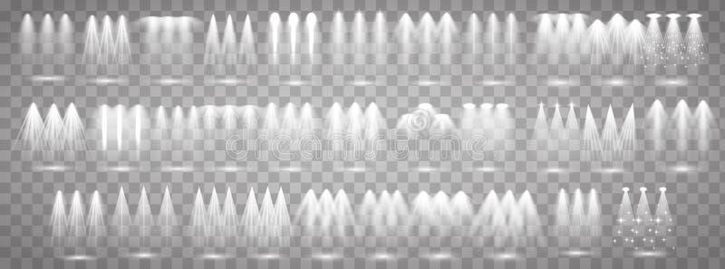 Proyectores de la etapa fijados ilustración del vector