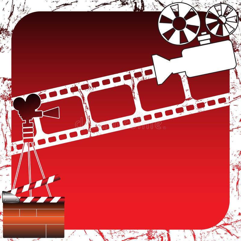 Proyectores de película stock de ilustración