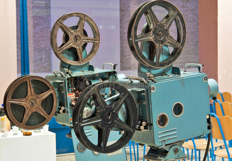 Proyectores de película viejos fotos de archivo