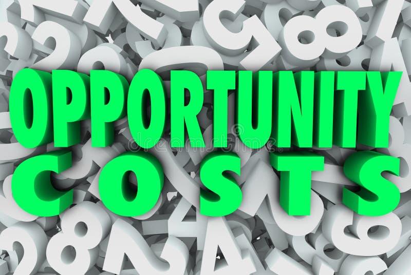Proyectos de las tareas de prioridad de la asignación de recursos de los costes de oportunidad ilustración del vector