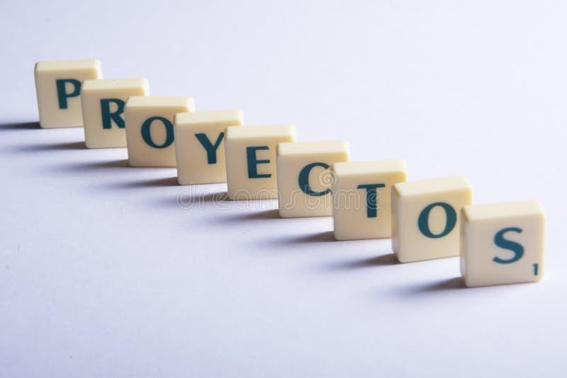 Proyectos projekt arkivbild