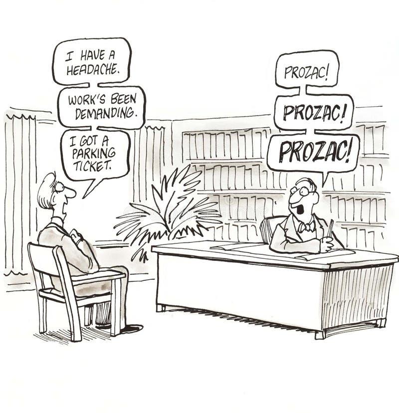 Prozac ilustração stock