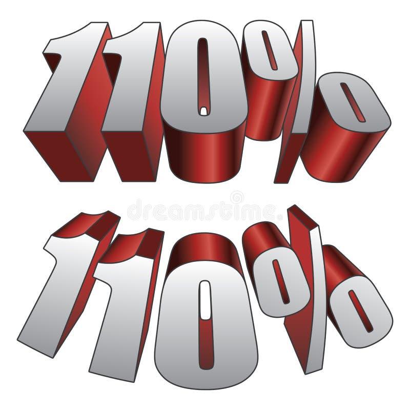 110 Prozent lizenzfreie abbildung