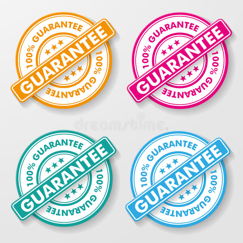 100 Prozent-Garantie-Papier-Aufkleber lizenzfreie abbildung