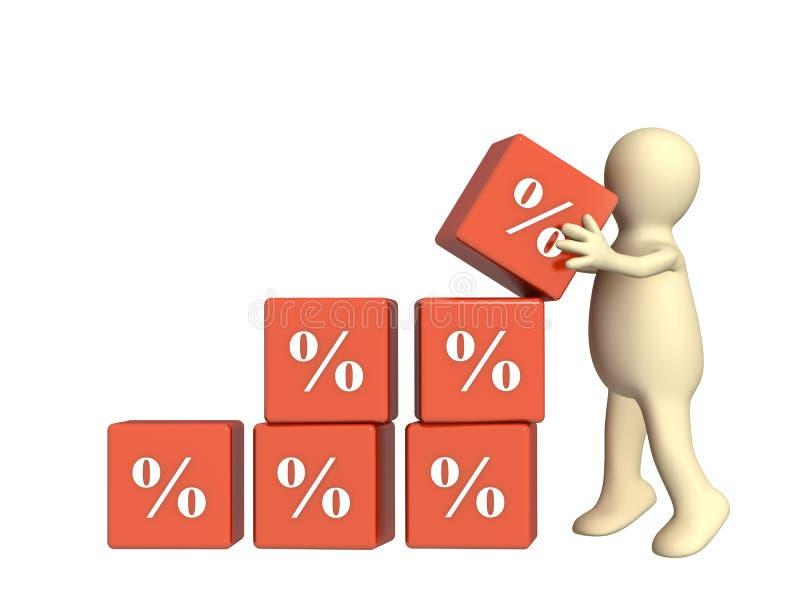 Prozente Wachstum lizenzfreie abbildung