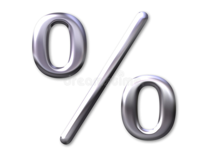 Prozentsatz â Silberschrägfläche lizenzfreie abbildung