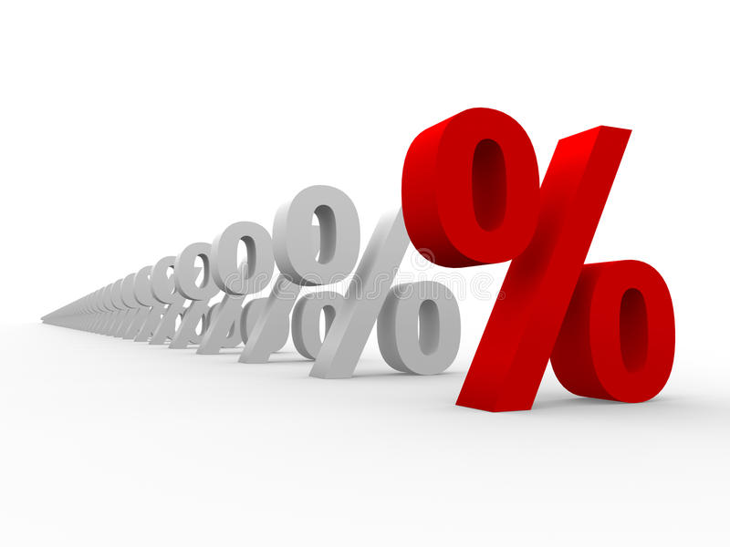 Prozentsatz 3D stock abbildung