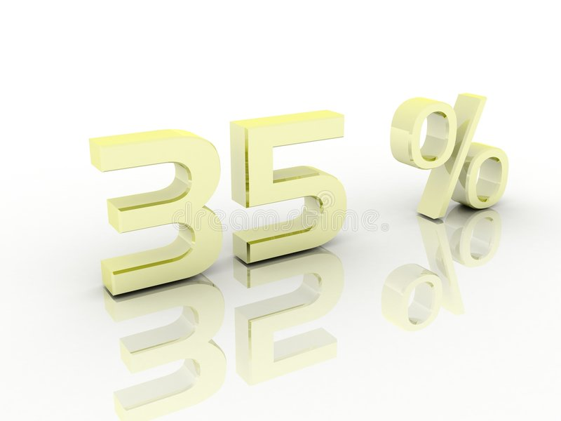 Prozentsatz stock abbildung