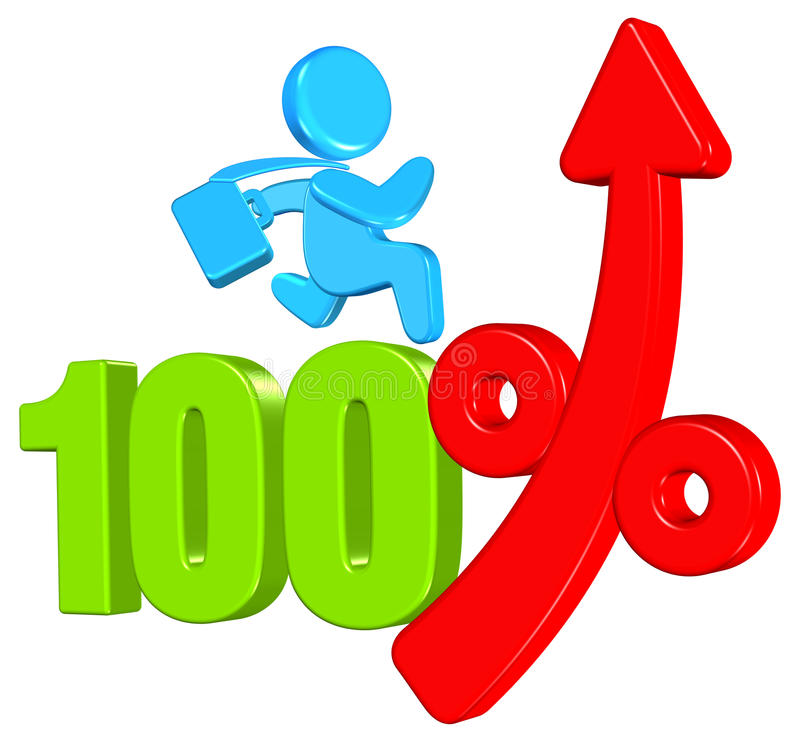 Prozentsatz-Geschäfts-Konzept stock abbildung