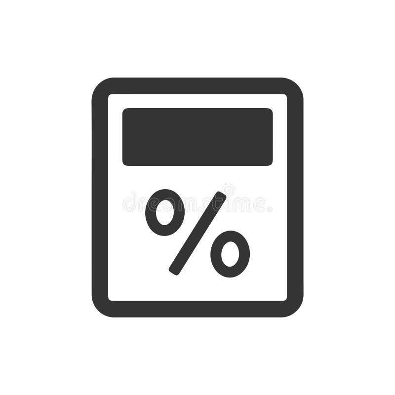 Prozentsatz-Taschenrechner-Ikone vektor abbildung