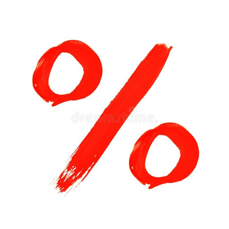 Prozentsatzsymbol vektor abbildung