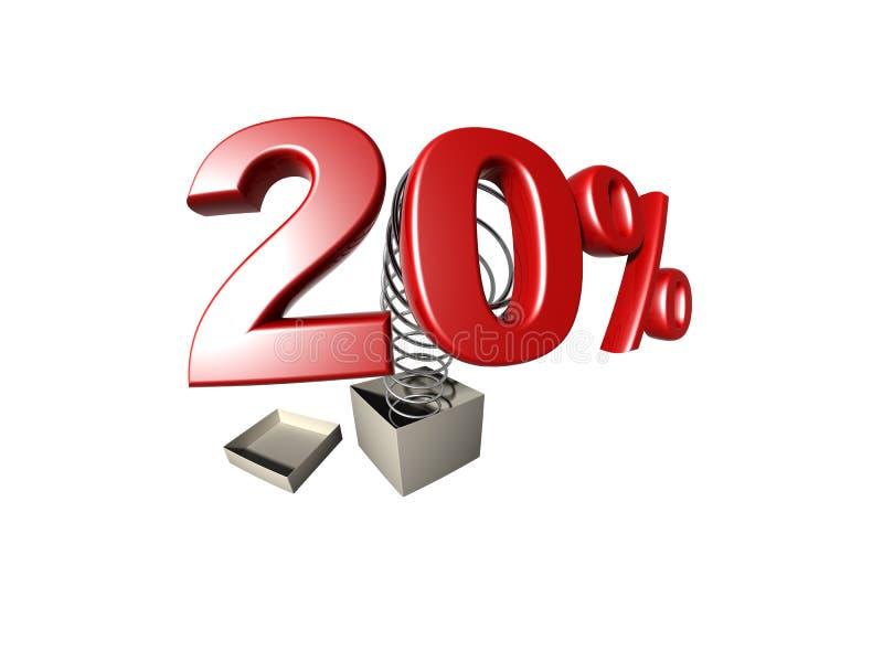 Prozentsatzzeichen stock abbildung
