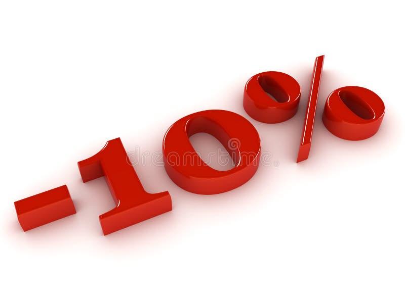 Prozentsatzzeichen lizenzfreie abbildung