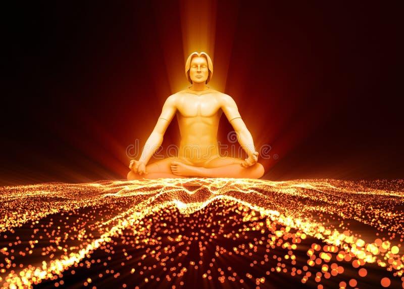 Prozess der Meditation lizenzfreie abbildung