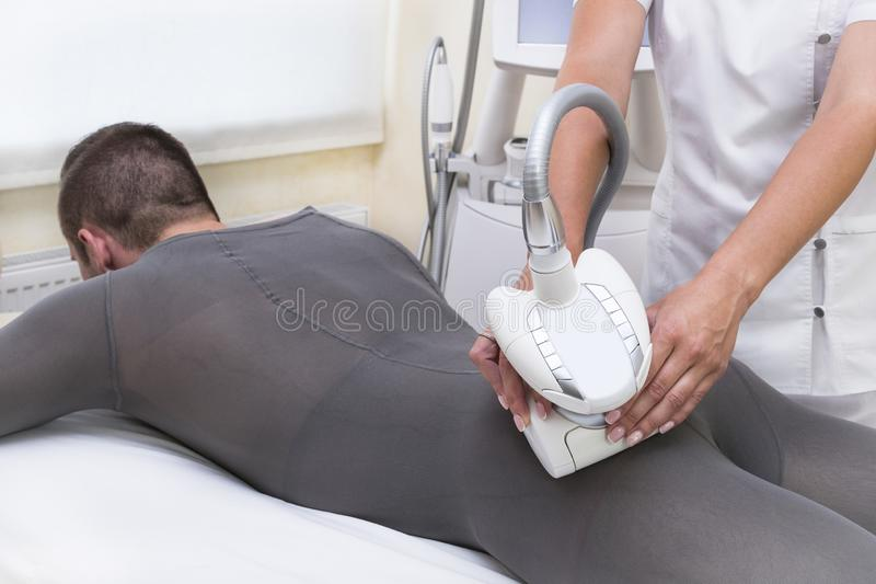 Prozess am Klinik lipomassage stockfoto