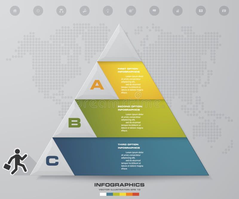 Prozess mit 3 Schritten Simple&Editable-Zusammenfassungsgestaltungselement Vektor lizenzfreie abbildung