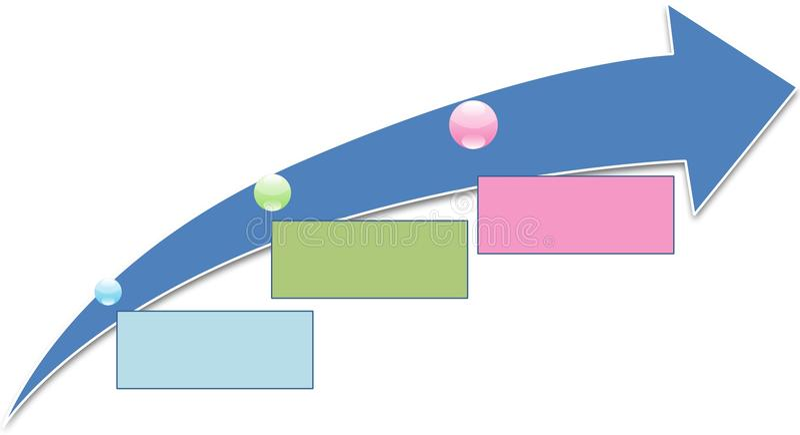 Prozessdiagramm vektor abbildung