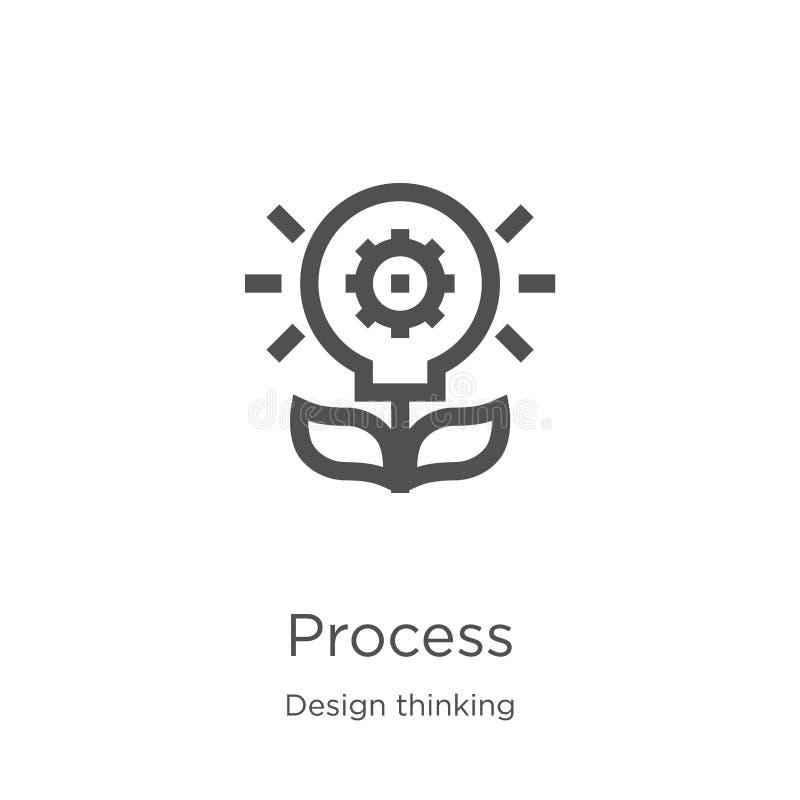 Prozessikonenvektor von denkender Sammlung des Entwurfs D?nne Linie Prozessentwurfsikonen-Vektorillustration Entwurf, d?nne Linie vektor abbildung