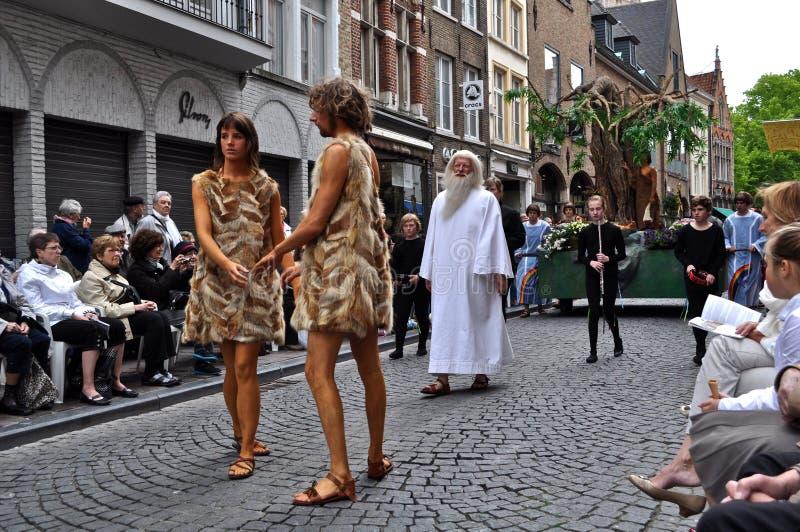 Prozession des heiligen Bluts, Brügge, Belgien stockfotos