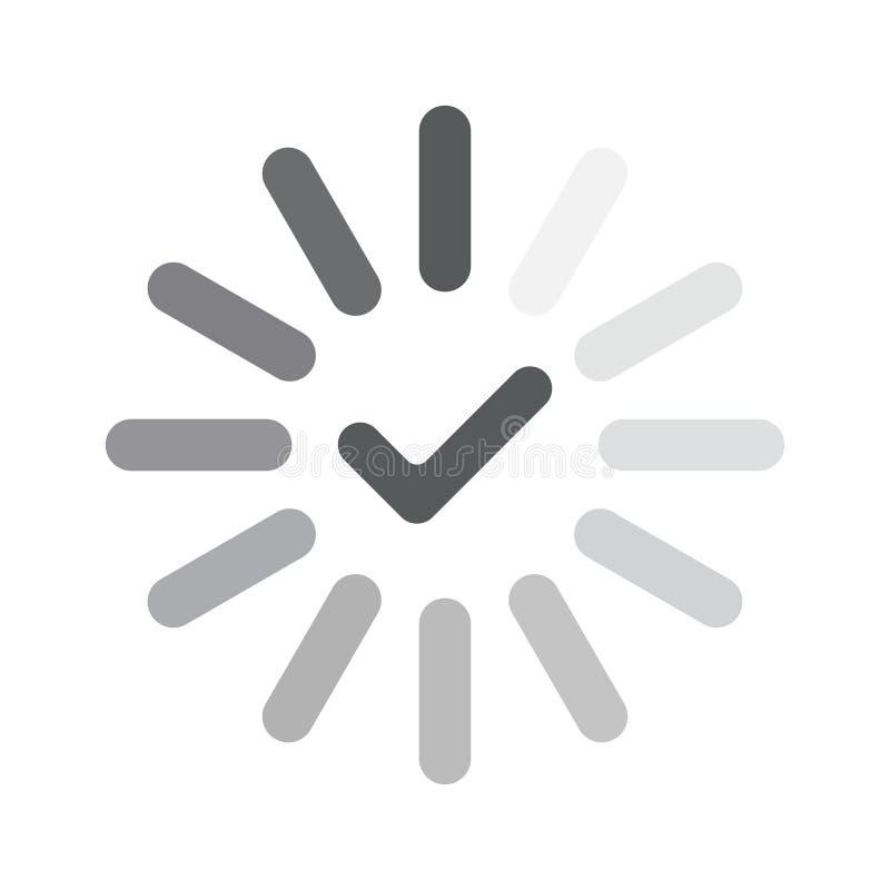 Prozessnetzdownload oder Aktualisierungsikone stock abbildung