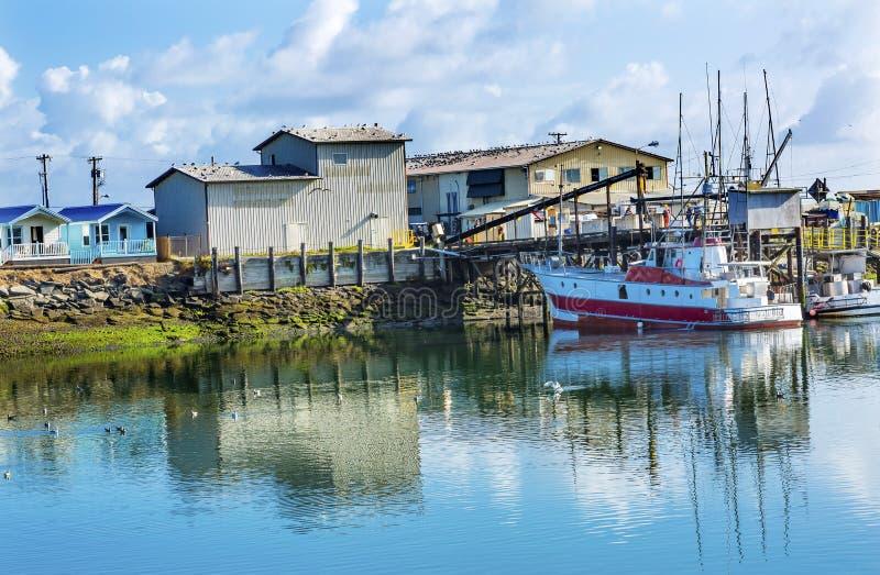 Prozessor-Fischerboot Westport-Grau-Hafen Washington State lizenzfreies stockfoto