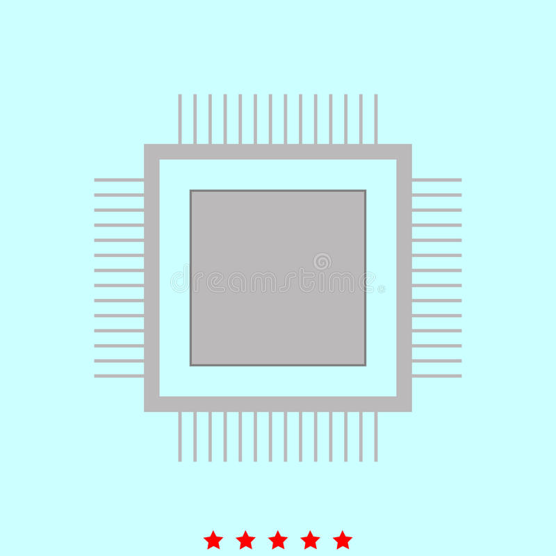 Prozessor ist es Ikone vektor abbildung