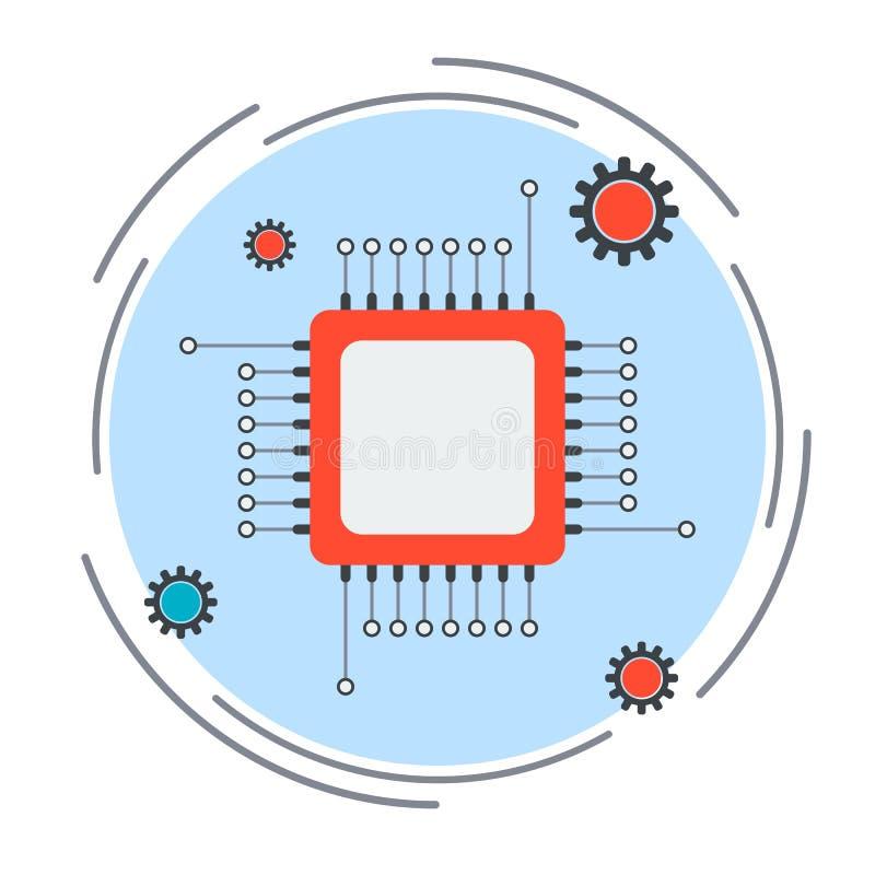 Prozessorvektorikone stock abbildung
