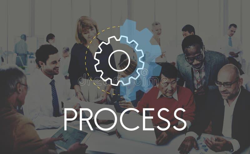 Prozesswort-Einstellungs-Ikonen-einfaches Konzept lizenzfreies stockbild