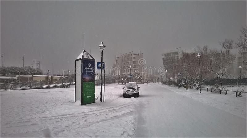 A Winter`s Darsena royalty free stock images