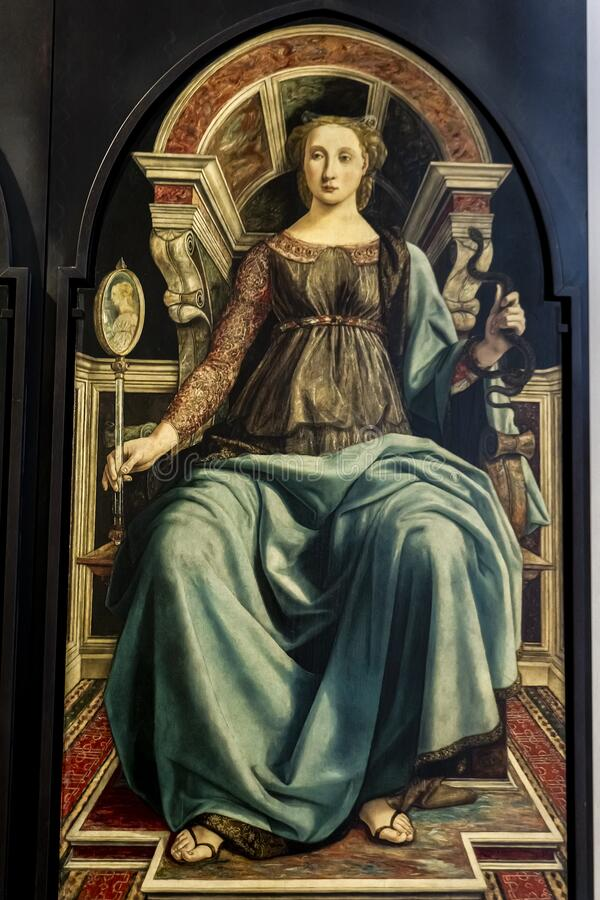 Free Prudence, From Panels Depicting The Virtues In Uffizi Gallery In Florence, Italy Stock Image - 172504411