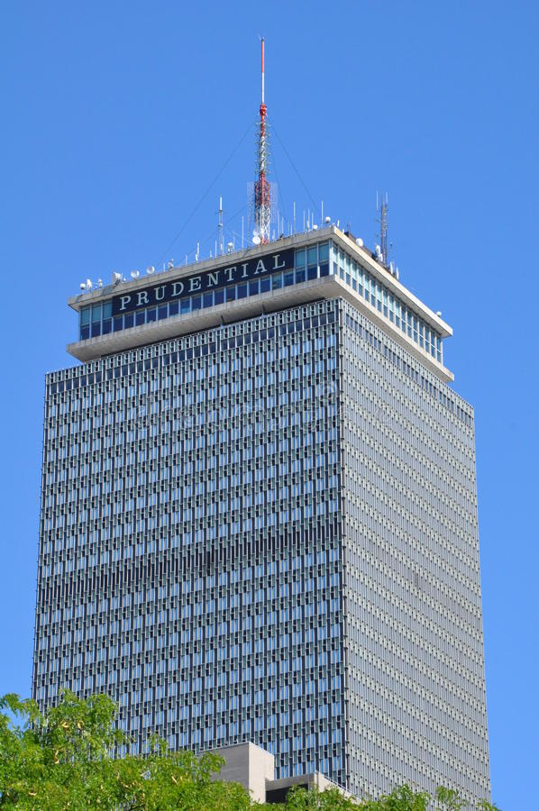 Prudential Tower in Boston stock image