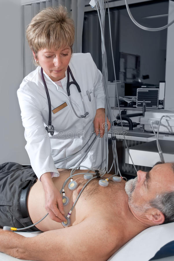Prueba de EKG imagen de archivo