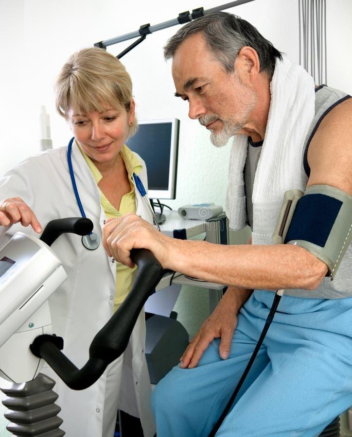 Prueba de EKG foto de archivo libre de regalías