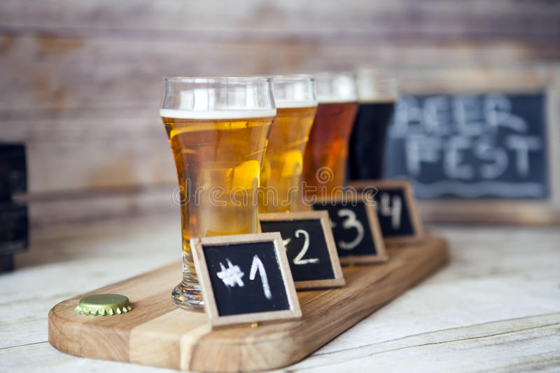 Prueba de la cerveza fotografía de archivo