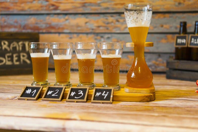 Prueba de la cerveza imagen de archivo