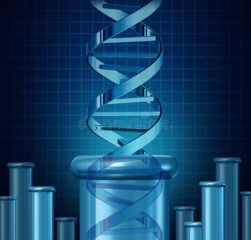 Prueba de la DNA stock de ilustración