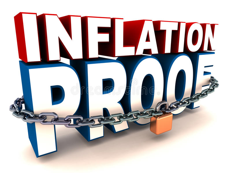 Prueba de la inflación ilustración del vector