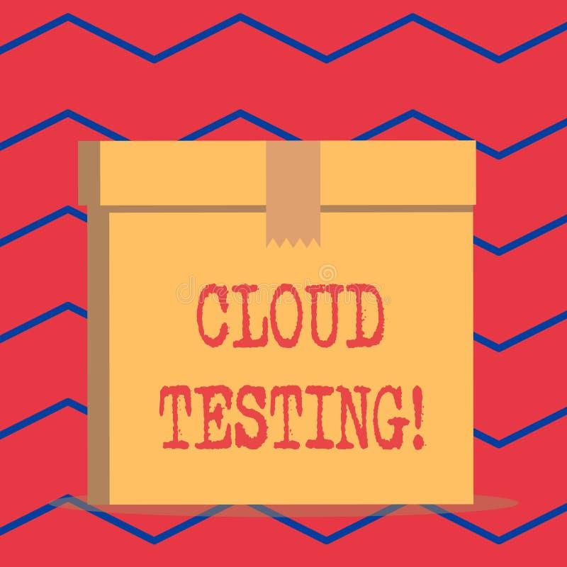 Prueba de la nube de la demostración de la muestra del texto La foto conceptual es la evaluación de una aplicación web s es perfo stock de ilustración
