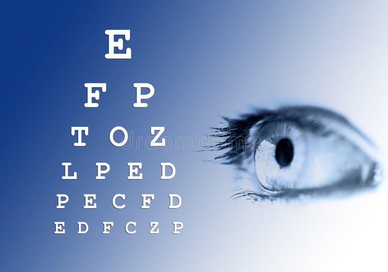 Prueba de la visión del ojo fotos de archivo libres de regalías