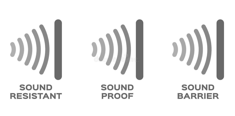 Prueba de los sonidos, resistente, vector de la barrera/icono libre illustration