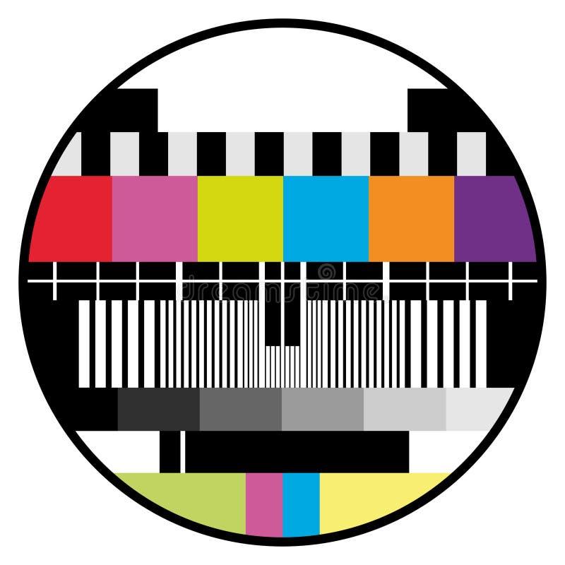 Prueba del color de la TV stock de ilustración
