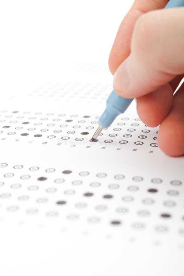 Prueba del estudiante (examen) imagen de archivo