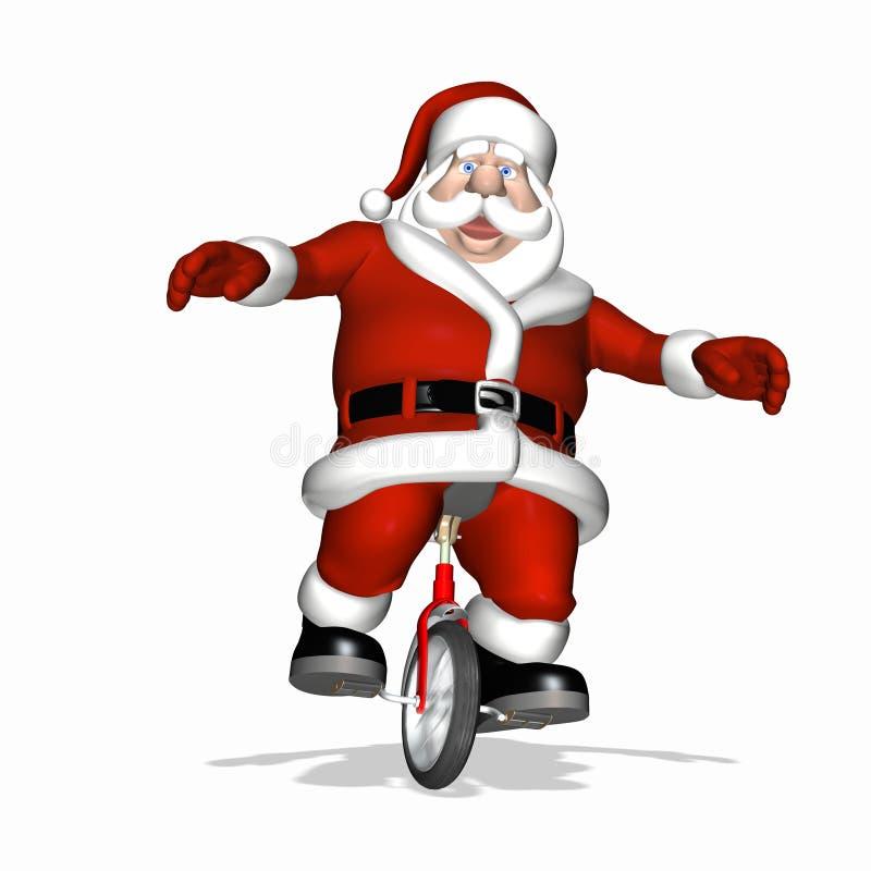 Prueba del juguete de Santa - Unicycle 2 stock de ilustración