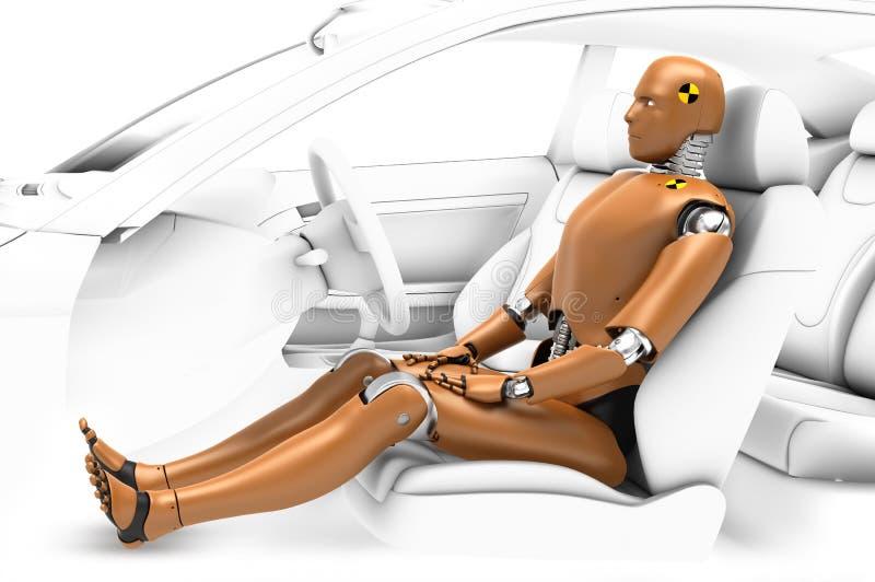 Prueba del robot, BioRid ilustración del vector