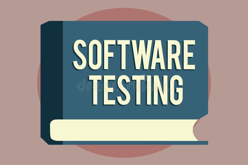 Prueba del software del texto de la escritura de la palabra El concepto del negocio para la investigación proporciona la informac libre illustration