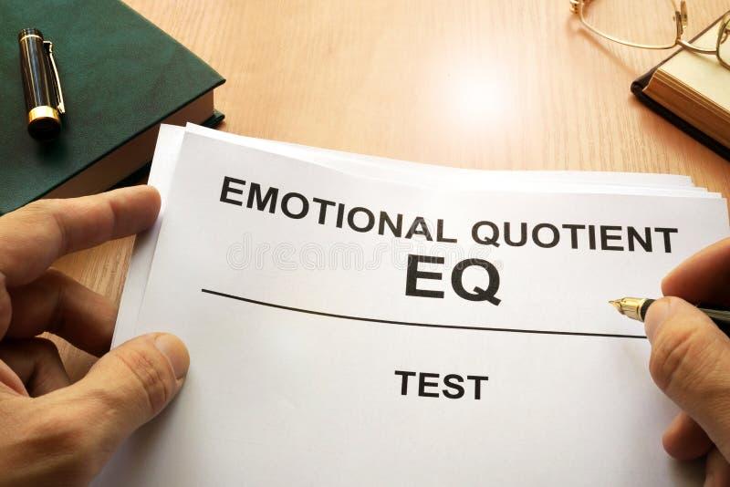 Prueba emocional del cociente EQ imagen de archivo libre de regalías