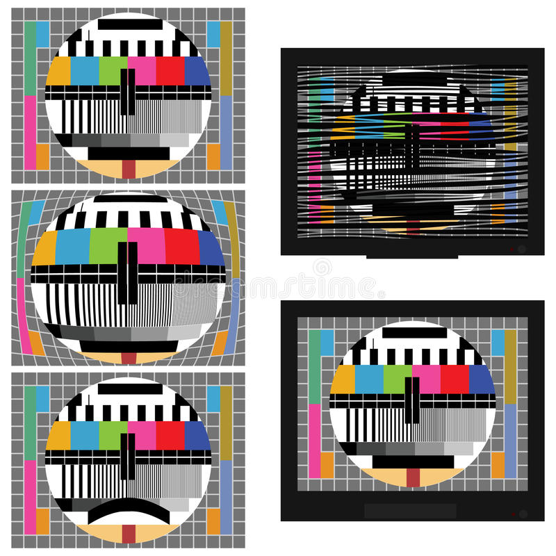 Prueba estática del color de la TV libre illustration