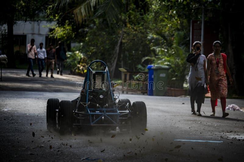 Prueba F1 en universidades foto de archivo