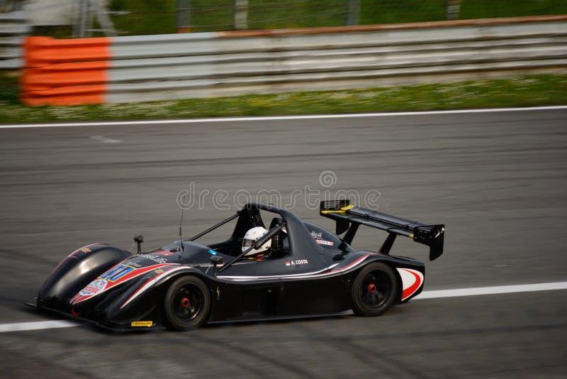 Prueba radical del coche de SR3 RS en Monza foto de archivo