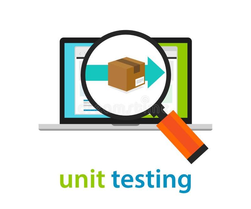 Prueba unitaria que codifica el comentario programado del uso en software stock de ilustración